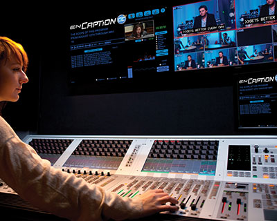 Television producer working to produce show
