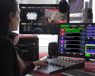 Visual radio editing in studio