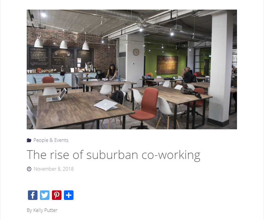 West of the City - The rise of suburban co-working