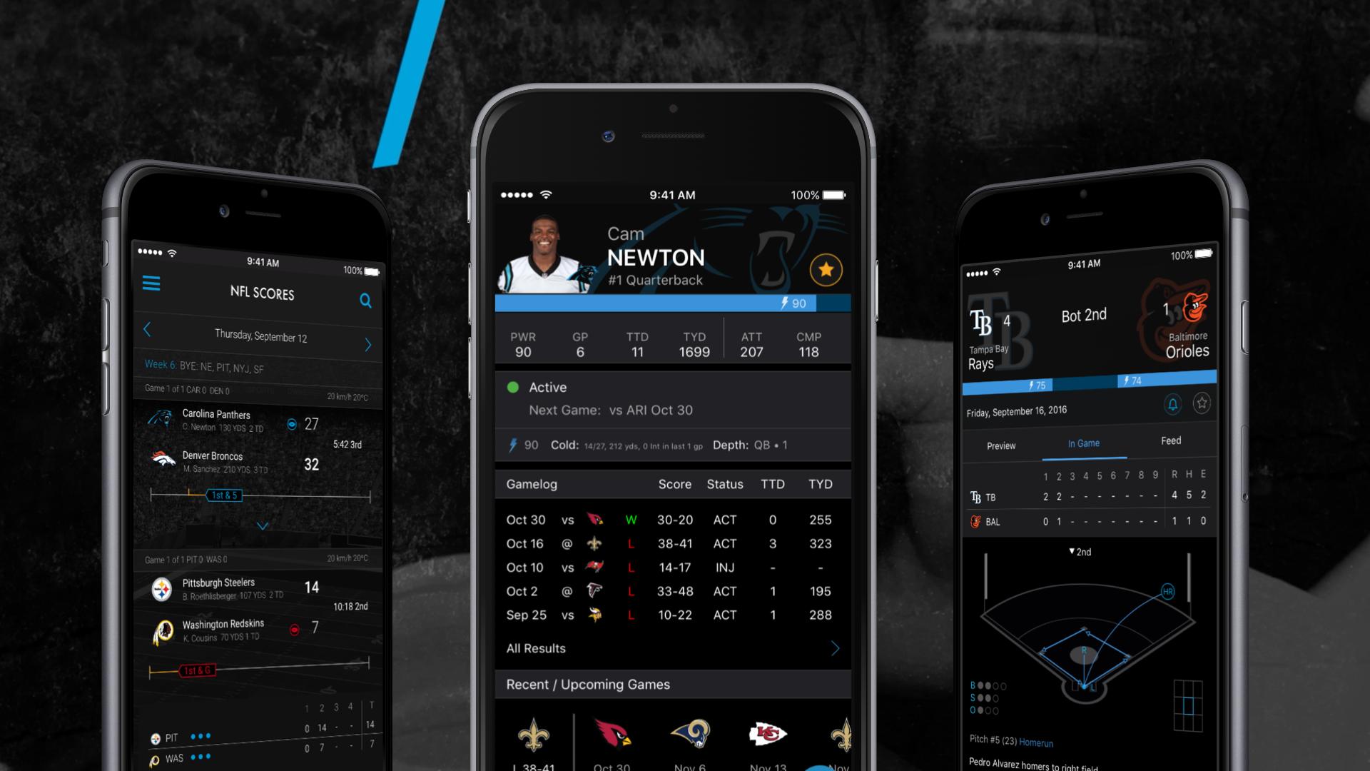 Consumer Fantasy Sports App Design