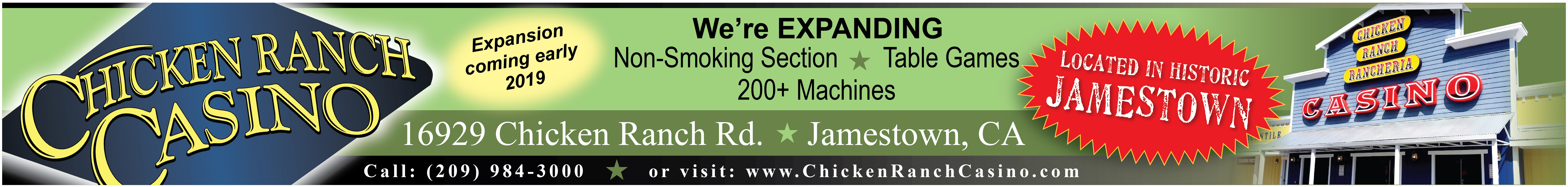 Chicken Ranch Casino - 2018 - 1 - Banner - Random