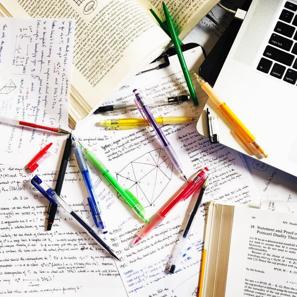 Pen, papers, and math