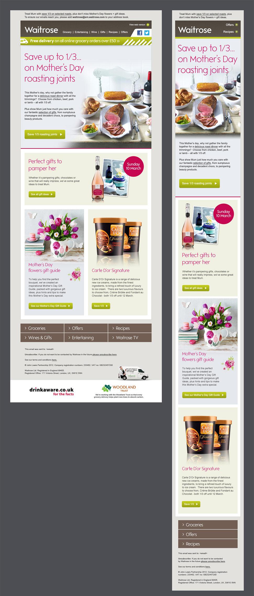 Waitrose Email Design