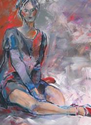 Jeune femme timide