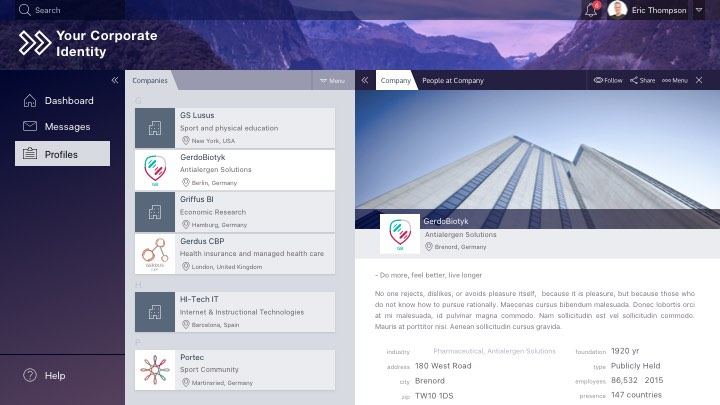 Peakfactor social network for associations