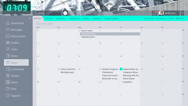 Peakfactor calendar & dates