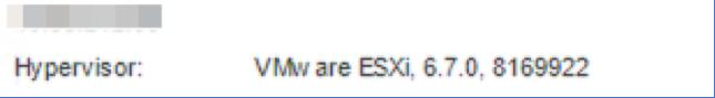 Hypervisor: VMware ESXi 6.7