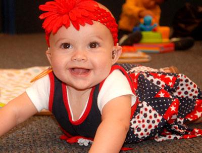 Test newborn baby hearing