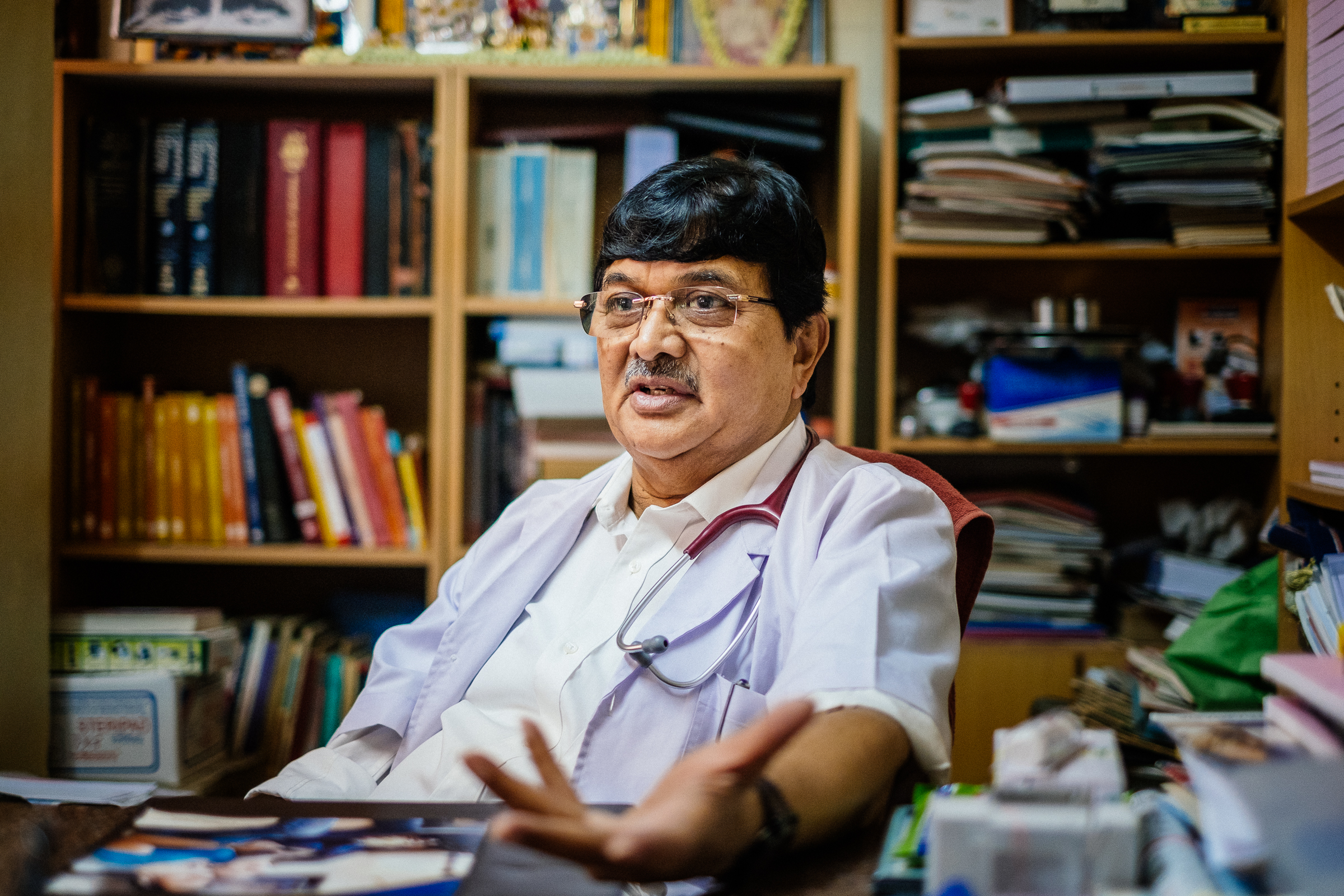 Highlights from our interview with Gautam, a GP and owner of Gopal Medical Centre, a private polyclinic for middle-income patients in Bangalore.