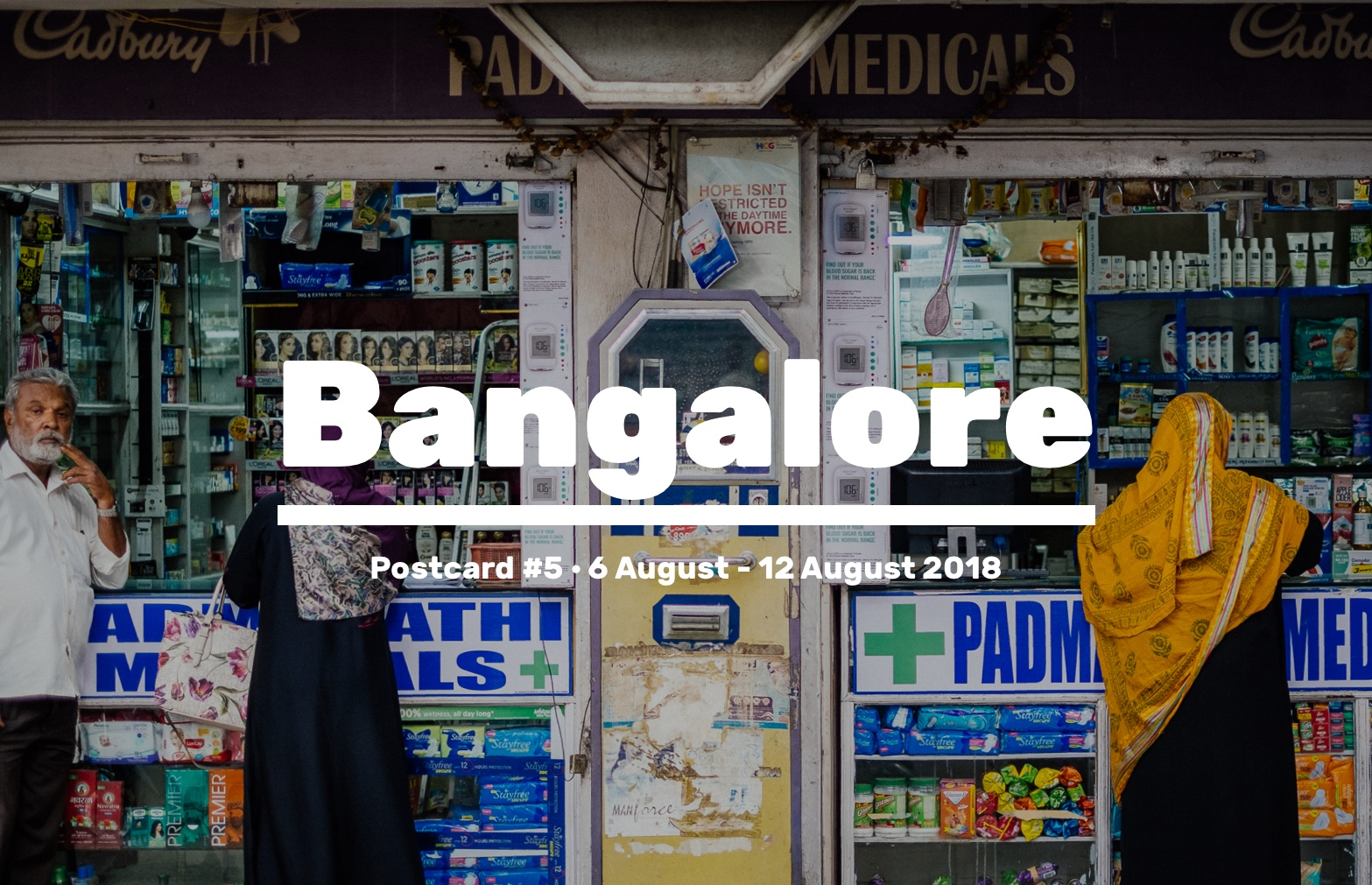 Week 5 of our discovery phase and our first round of fieldwork is now over, with a trip to Bangalore, India. We spent time researching the health care structure, mentality, patient experience and provider practices. Here's what happened this week.