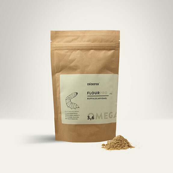Buffalo Worm Flour (Powder) Product Packaging Photography