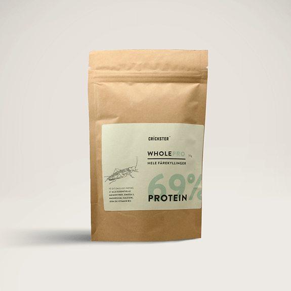Paper pouch product photo of Crickster's Wholepro (Cricket powder)
