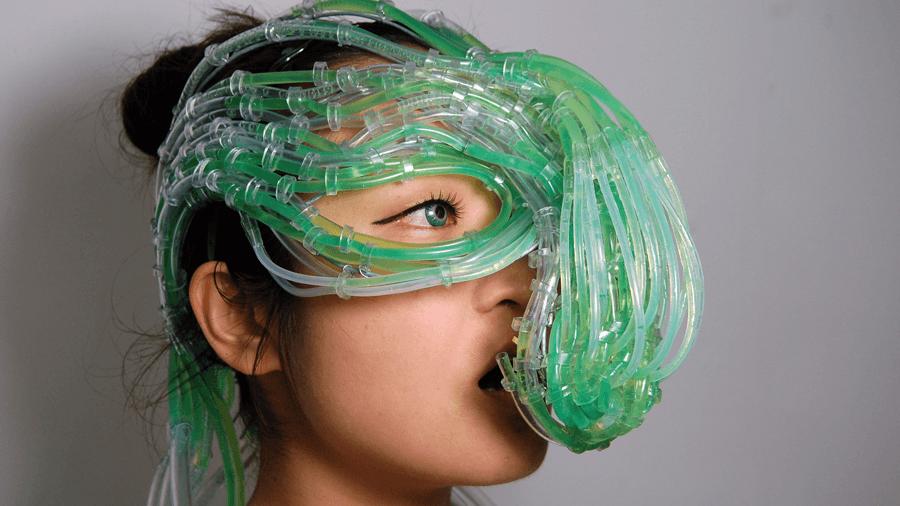 Art installation by Burton and Nitta - Algaeculture mask