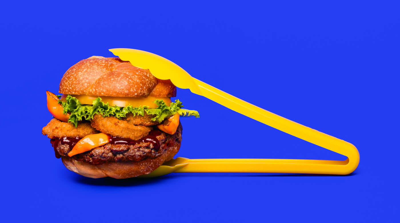 Plant based burger by Impossible foods that looks like a regular burger