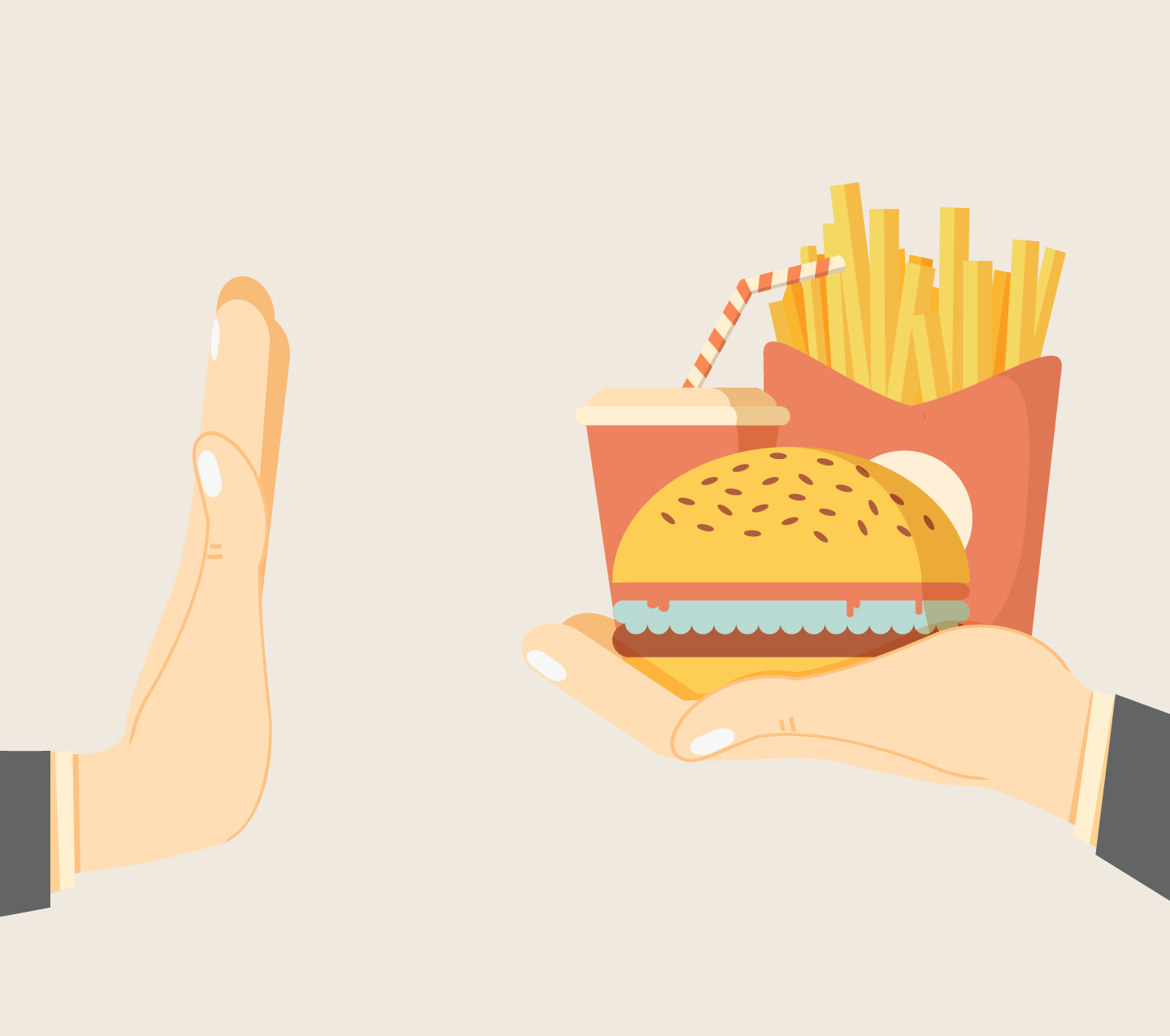 illustration: rejecting junk food