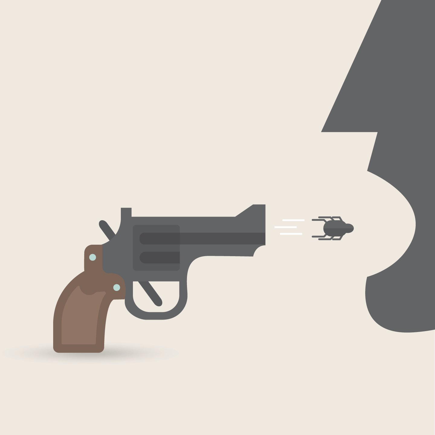 """A bug gun (Refference to the movie: """"The good the Bad and the ugly"""")"""