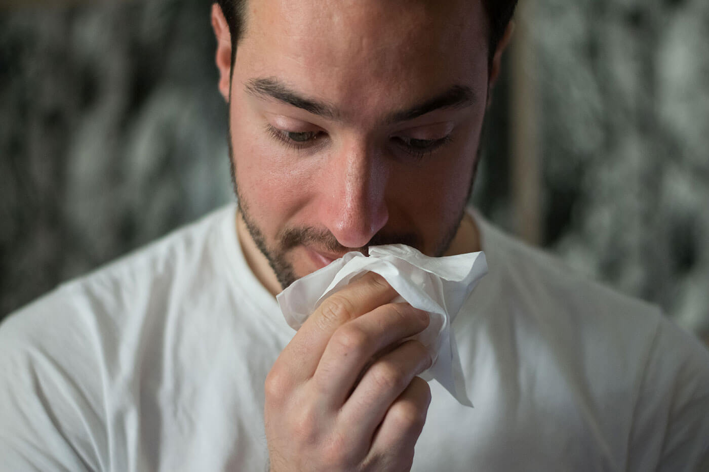 allergic man