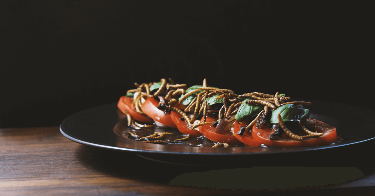Mealworm salad