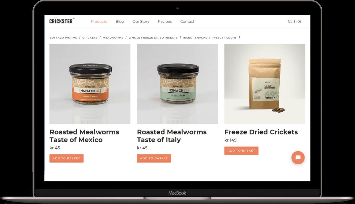 Online bug shop