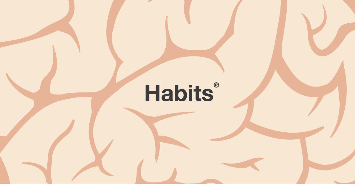 habits embedded in a brain