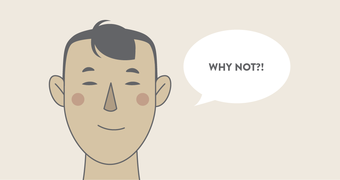 """illustration - Thai person saying, """"why not?"""""""