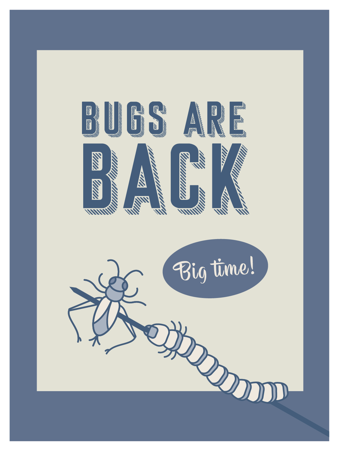 retro poster - bugs are back