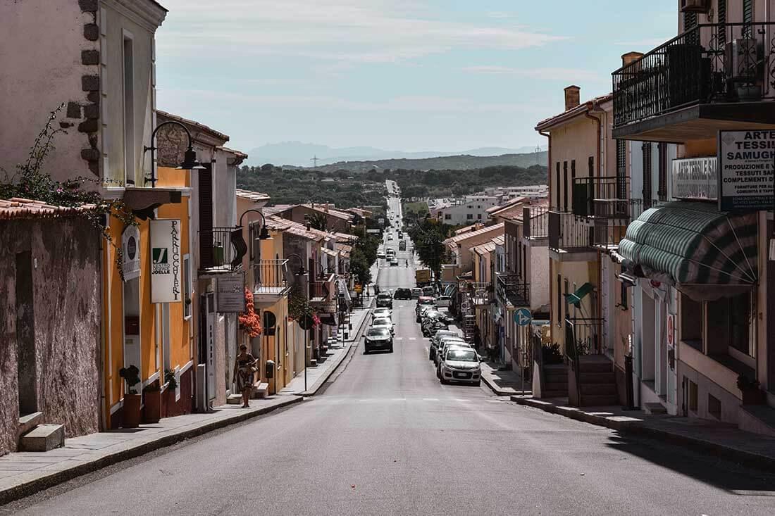 The streets of Sardinia