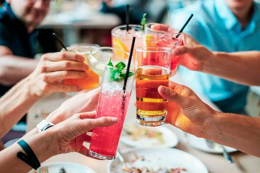 drinks cheering