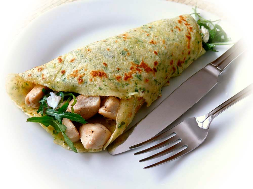 wrap with chicken and salad