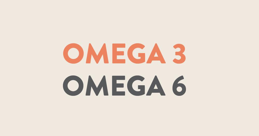 omega 3 & omega 6