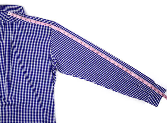 How to measure dress shirt sleeve length