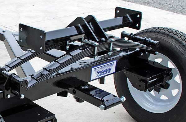 Torsion Axle With Leaf Spring Wagon Suspension
