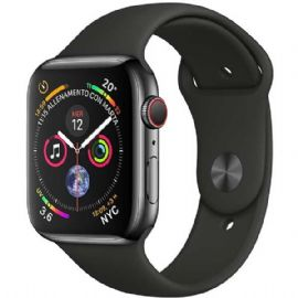 AppleWatch Series4 GPS+Cellular, 44mm Space Black Stainless Steel Case with Black Sport Band