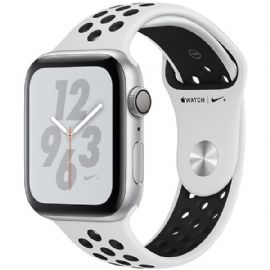 Apple Watch Nike+ Series 4 GPS, 40mm Silver Aluminium Case with Pure Platinum/Black Nike Sport Band