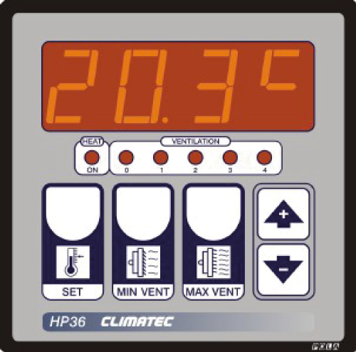Climatec - HP36 Four Stage Ventilation Thermostat