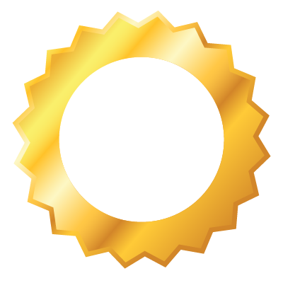 Golden Badge Outline