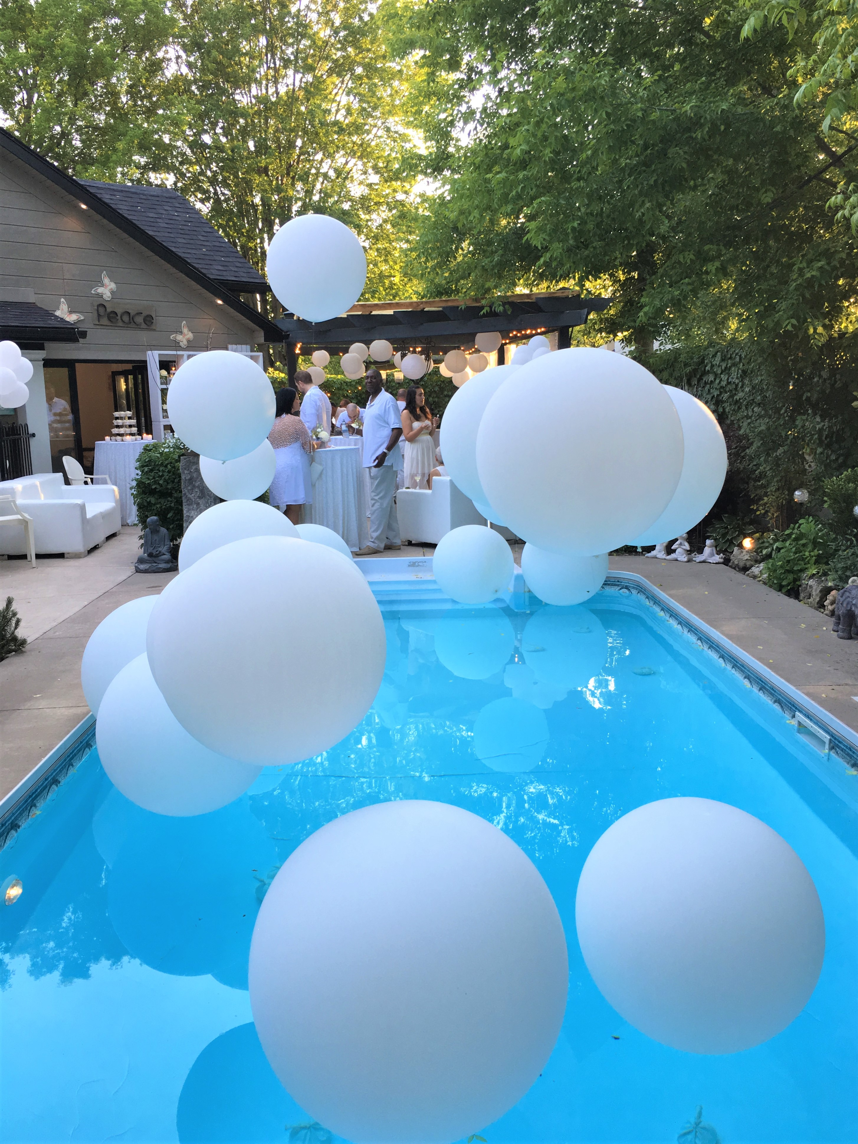 Her First Request Was To Decorate The Pool And Since Balloons Are All Craze Right Now We Knew That This Would Be Perfect For Added Chic Touch