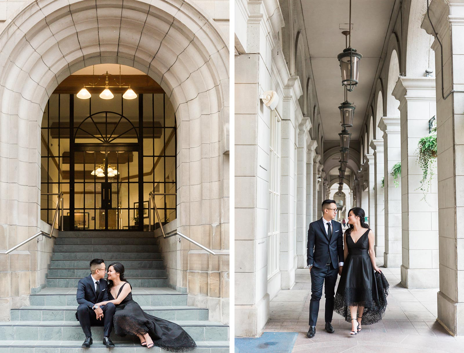 Downtown Toronto Engagement Photography | Elegant Classic Romantic