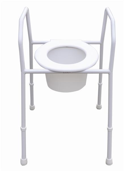 Over the toilet frame toilet aid steel splashguard