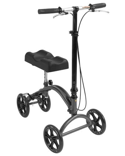 The Knee Walker provides a comfortable pain free alternative to crutches and is ideal for individuals who are recovering from foot surgery, breaks, sprains, amputations and ulcers of the foot.