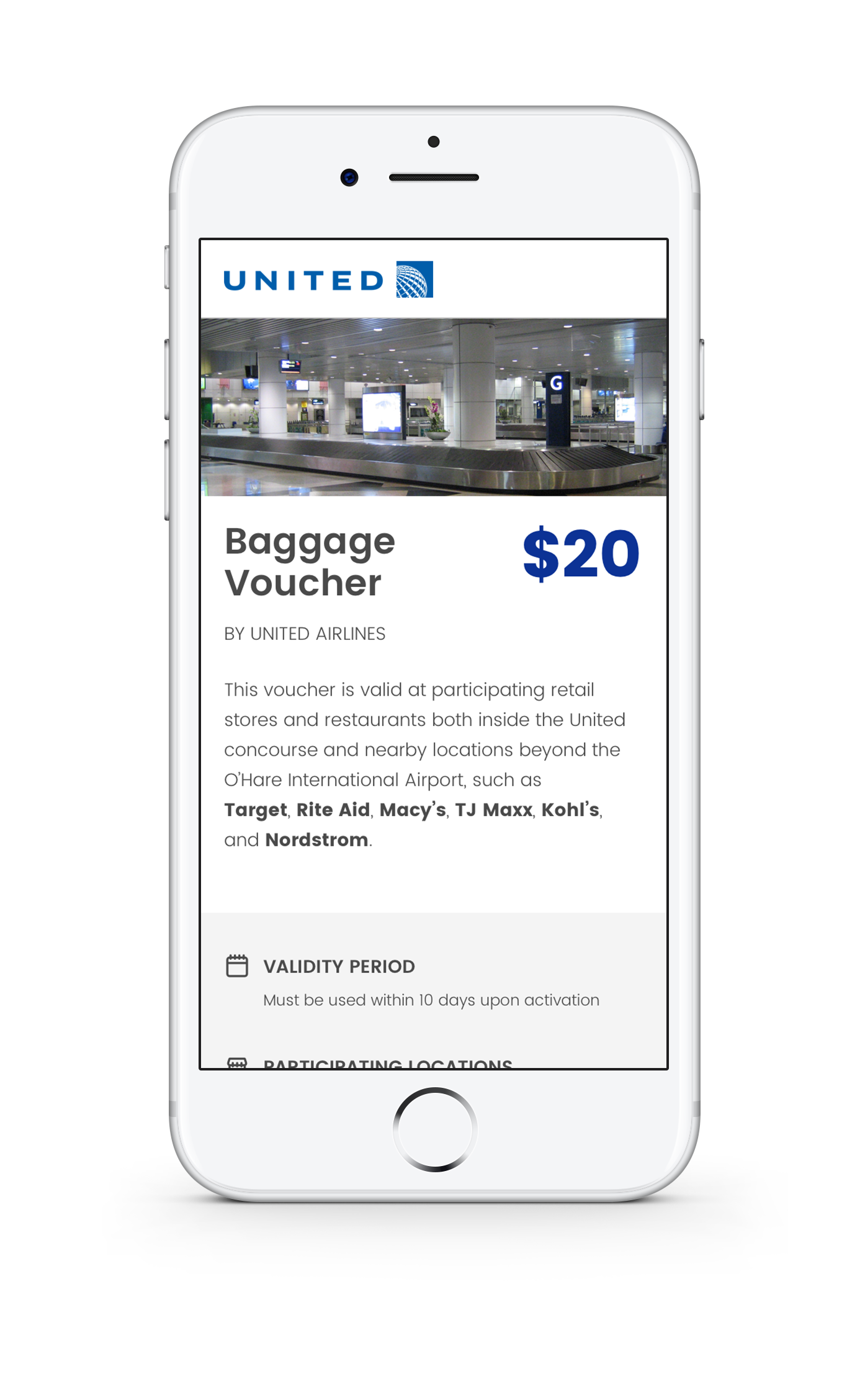 United Digital Baggage Voucher