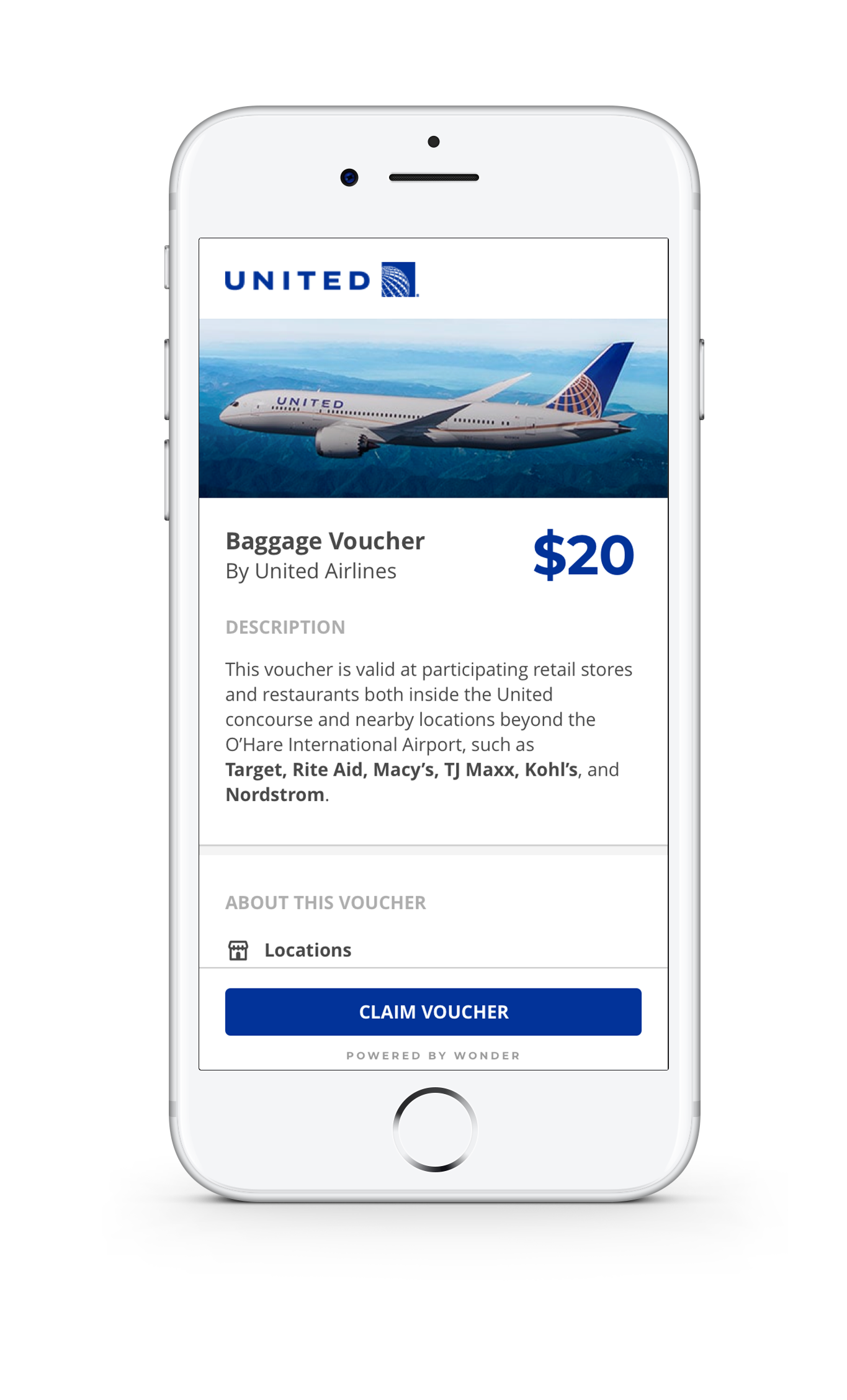 United Airlines Digital Voucher