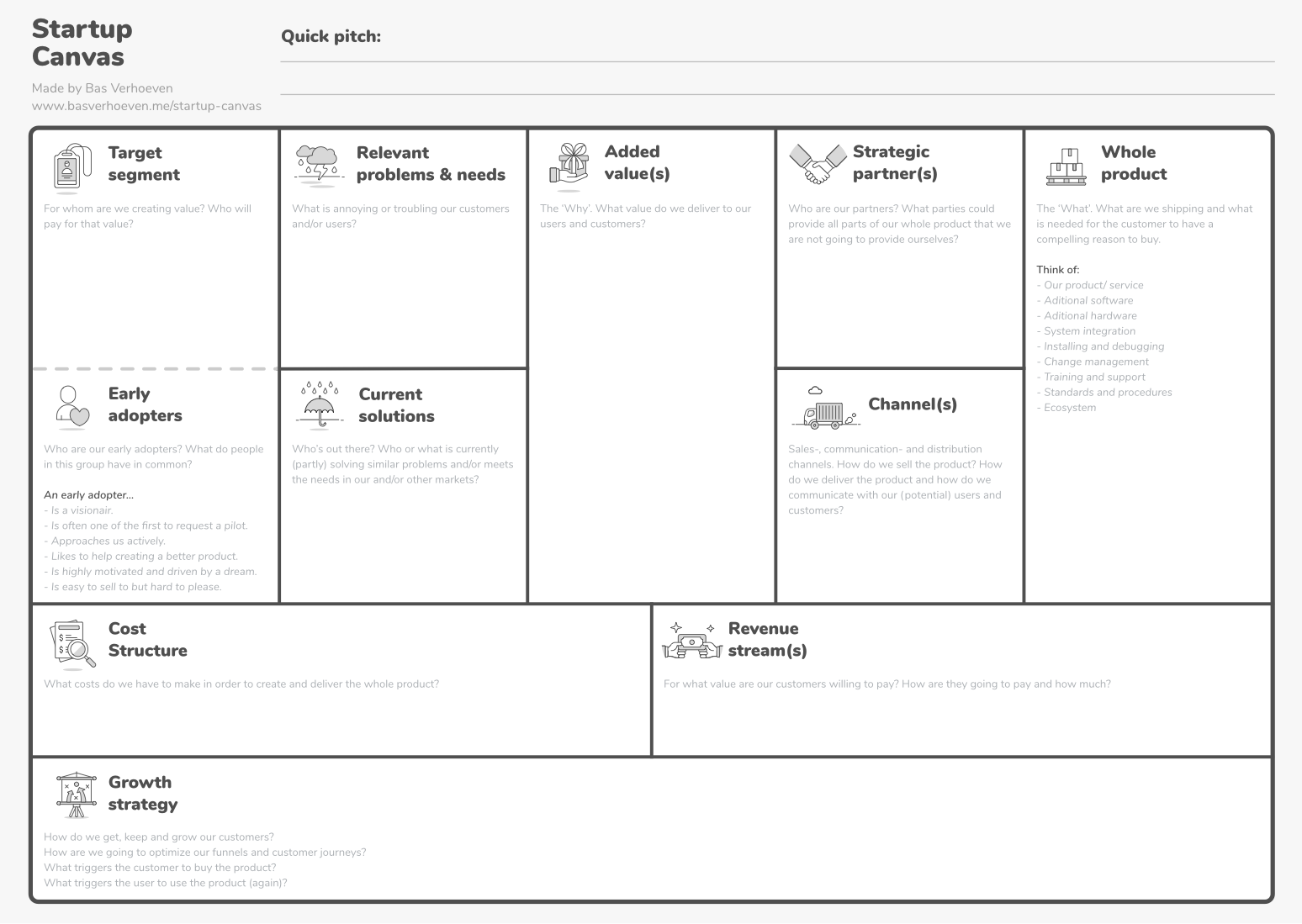 Download het Startup Canvas