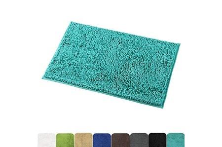 Turquoise Bath Rug