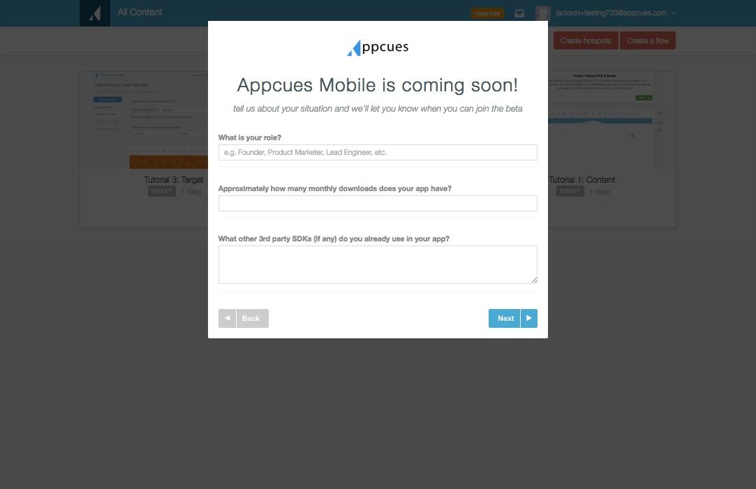 mobile survey step 2