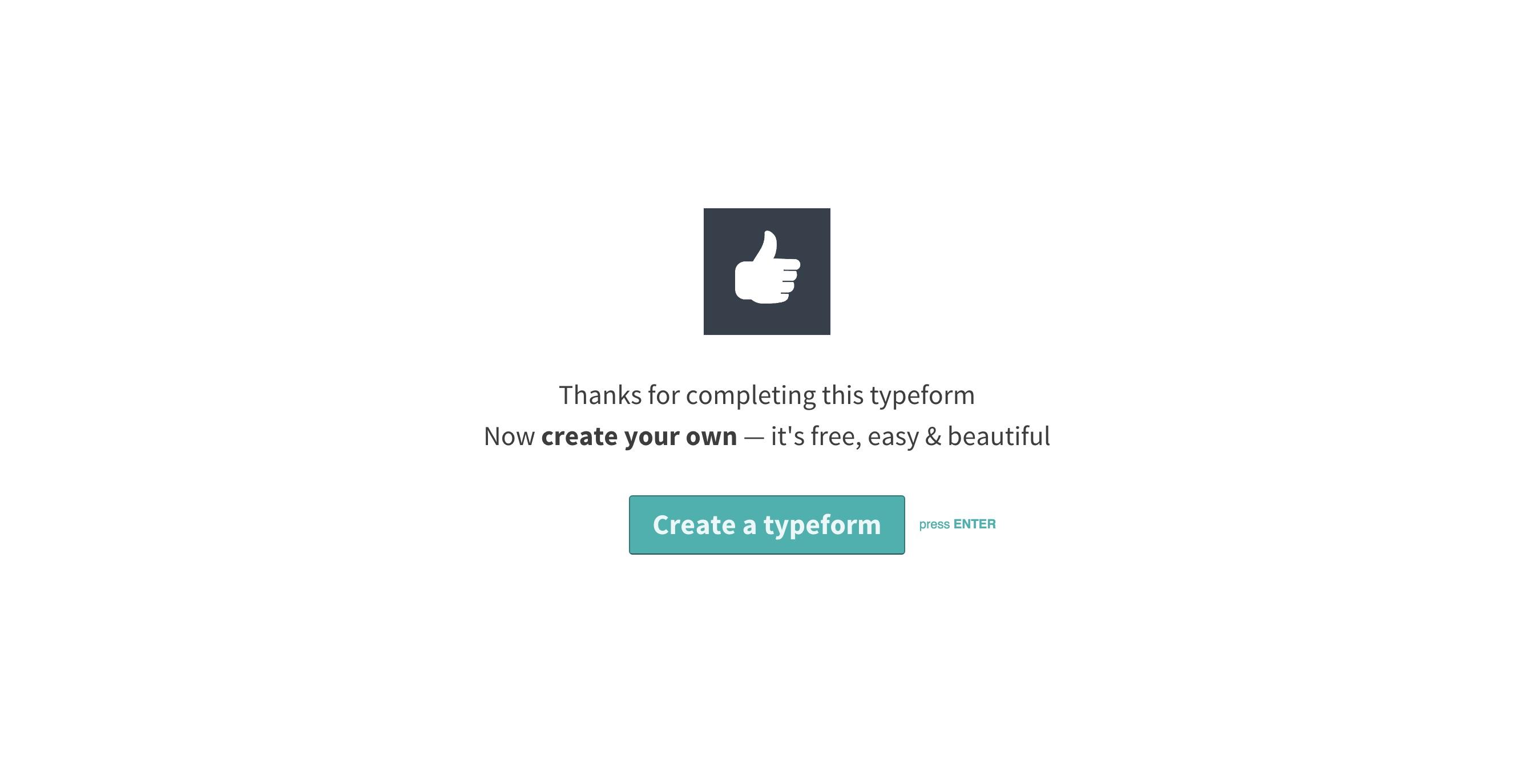 Typeform viral loop cta for freemium accounts