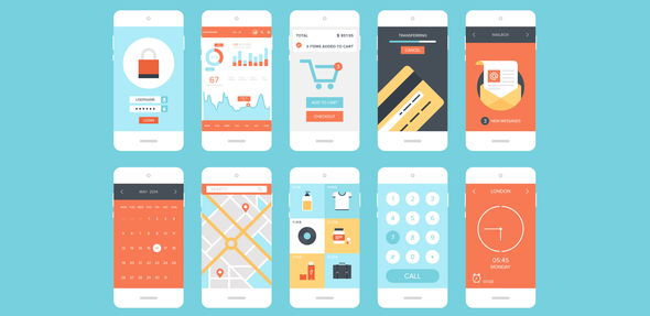 An illustration of multiple different app UIs as example of building diversity into apps through multiple iterations