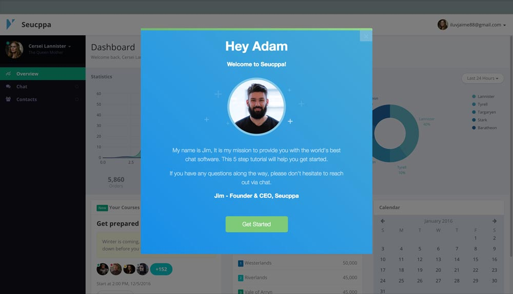 Stylized user onboarding in 30 minutes