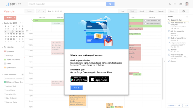 google calendar app cta