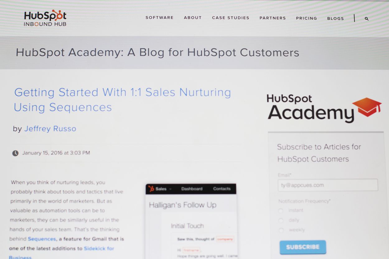HubSpot academy for communicating product releases to users